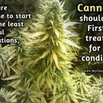 Cannabis is first line treatment